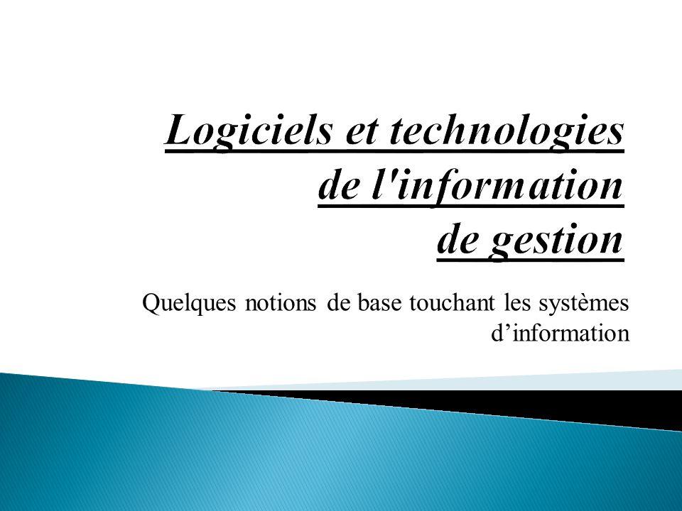Logiciels et technologies de l information de gestion