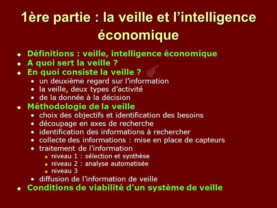 1ère partie : la veille et l'intelligence économique