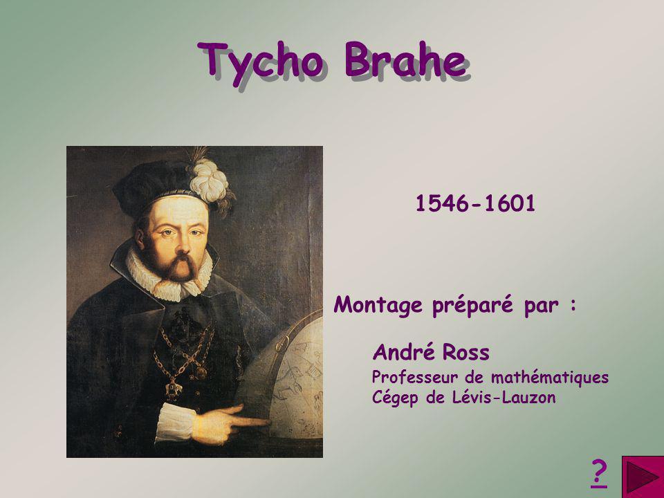 Tycho Brahe 1546-1601 Montage préparé par : André Ross