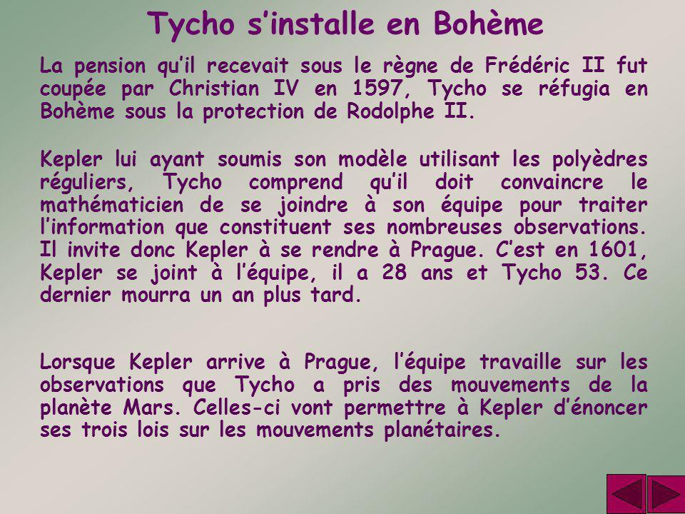 Tycho s'installe en Bohème