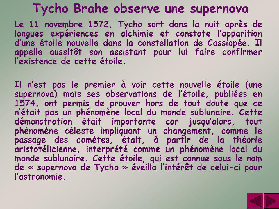 Tycho Brahe observe une supernova