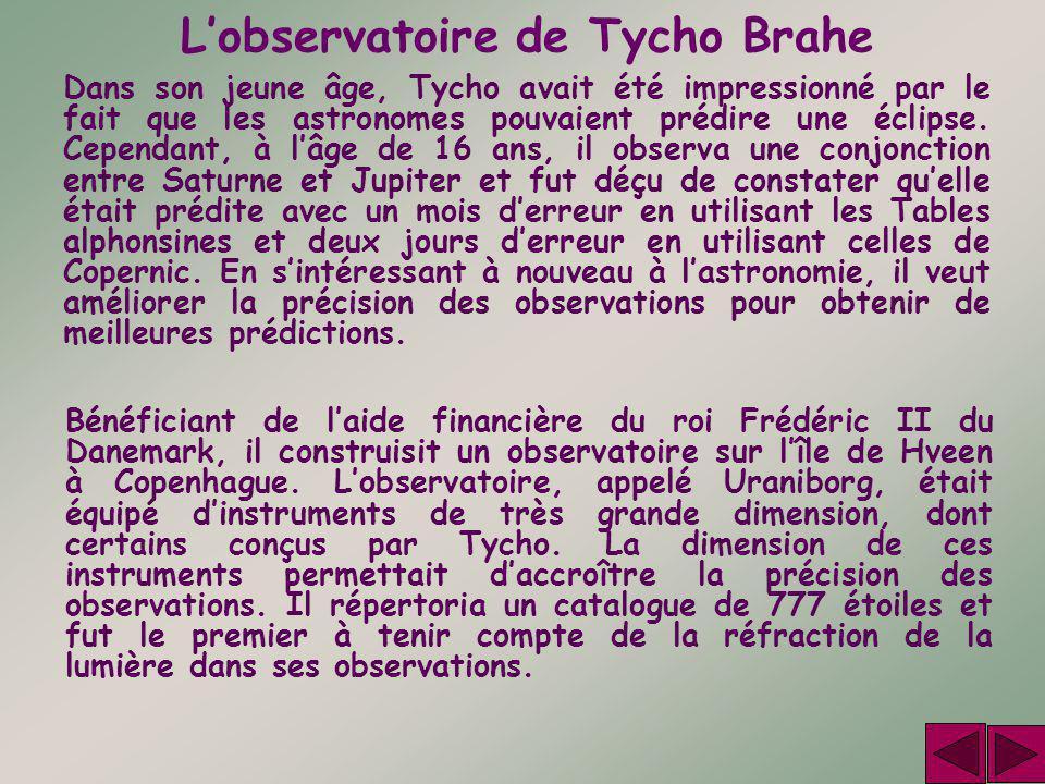L'observatoire de Tycho Brahe
