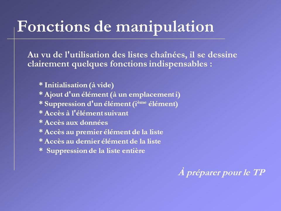 Fonctions de manipulation