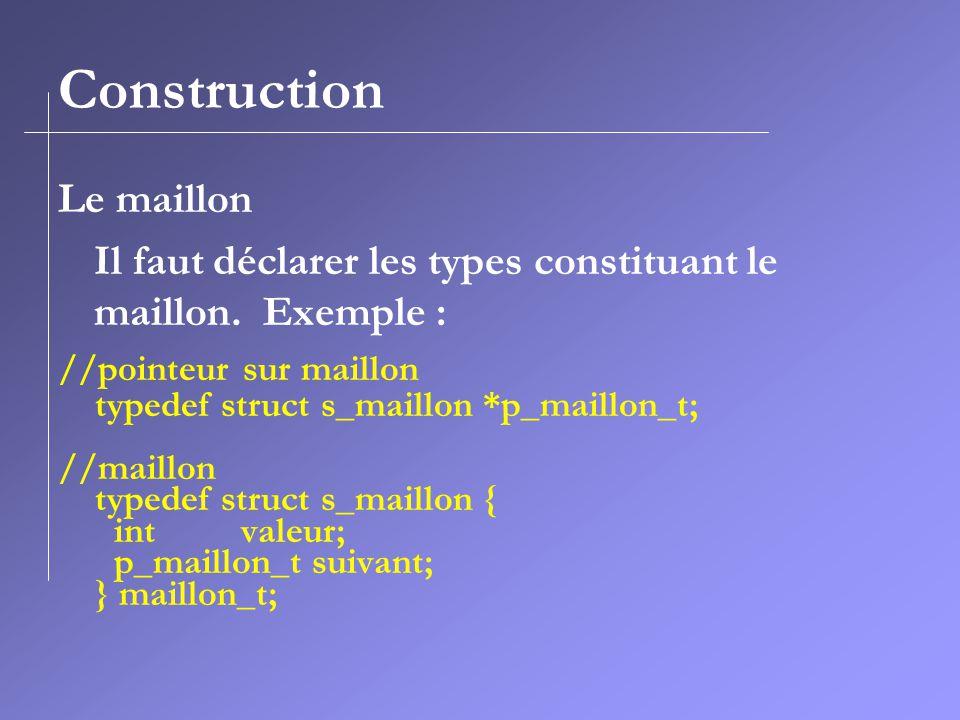 Construction Le maillon