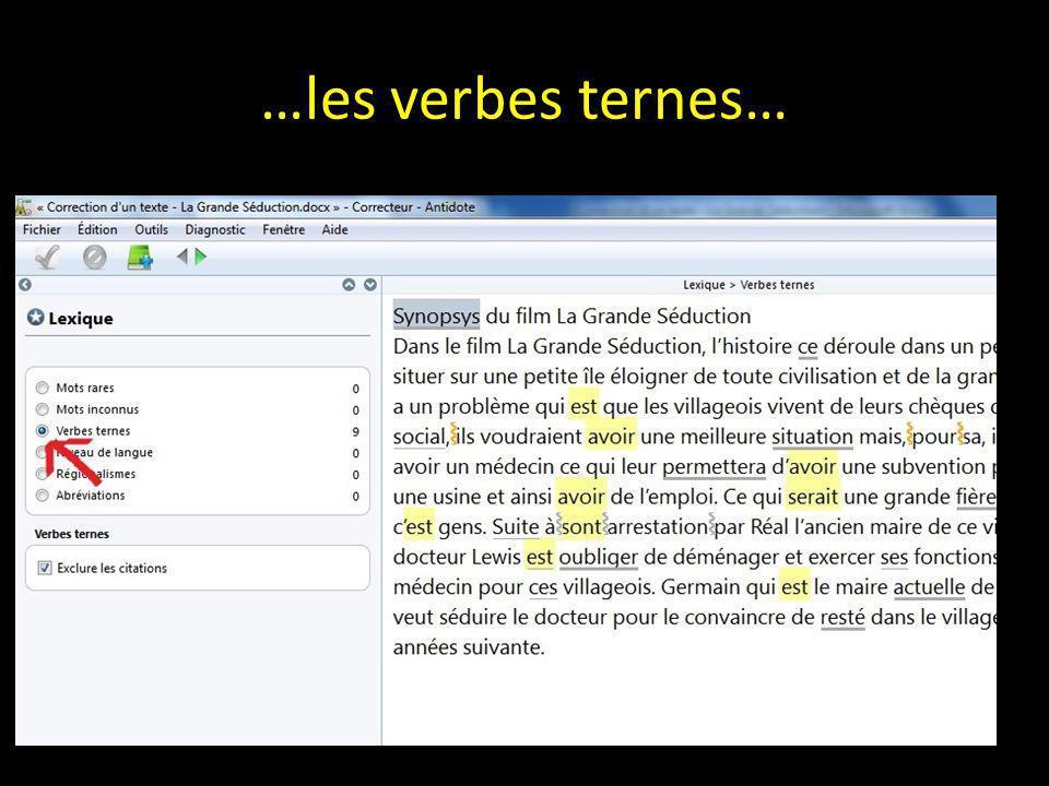 …les verbes ternes…