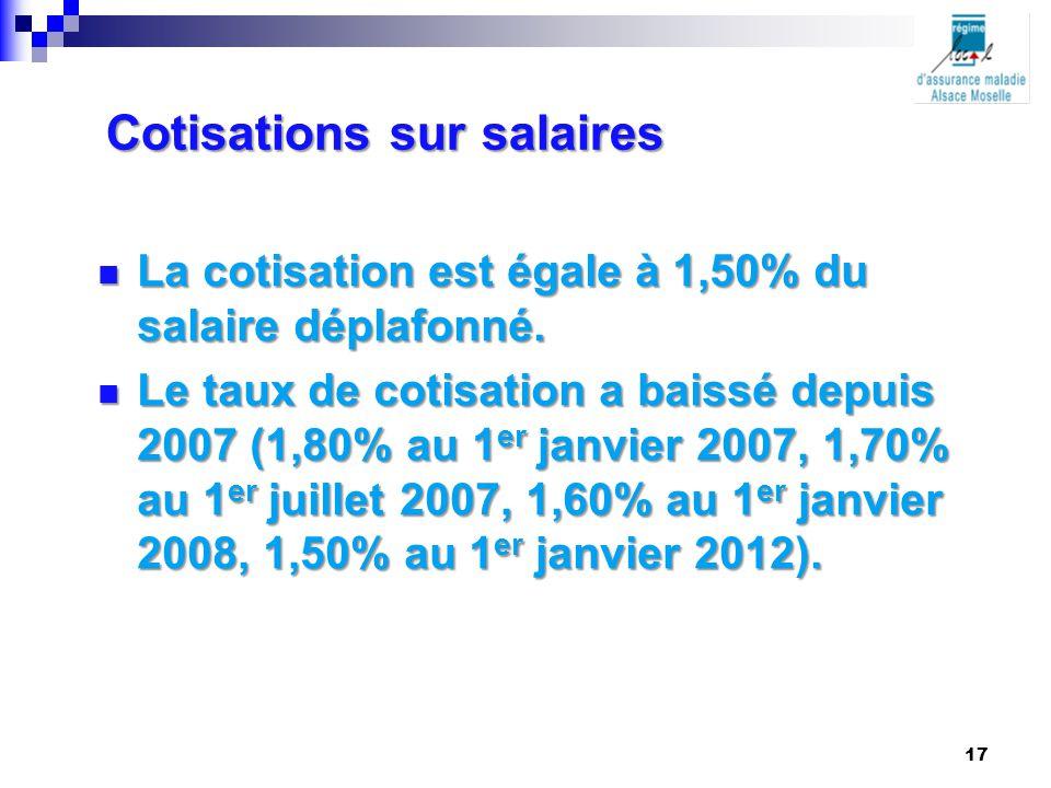 Cotisations sur salaires