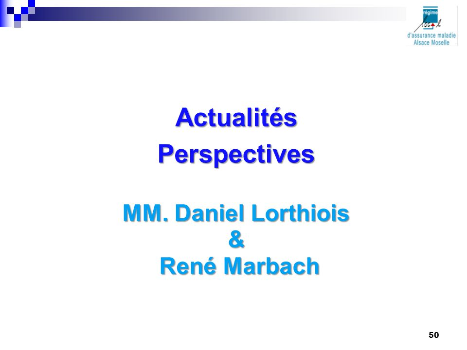 Actualités Perspectives
