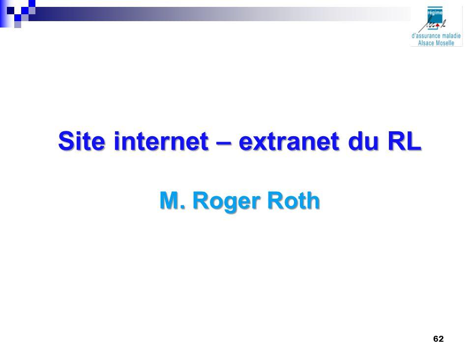 Site internet – extranet du RL