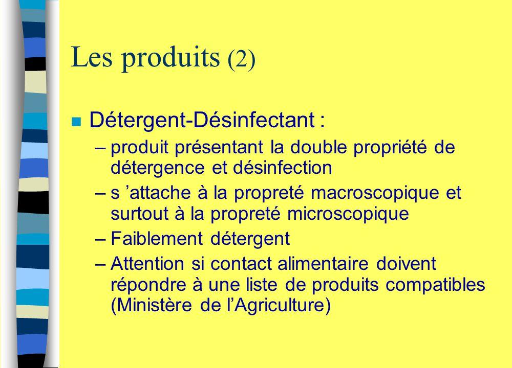 Les produits (2) Détergent-Désinfectant :
