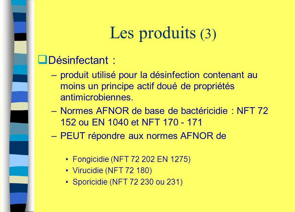 Les produits (3) Désinfectant :