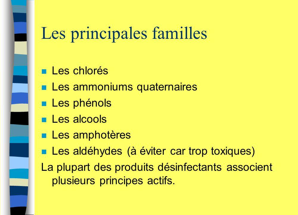 Les principales familles