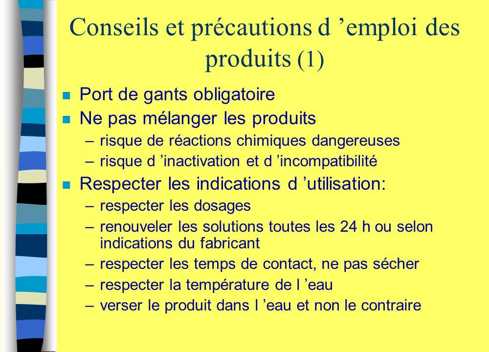 Conseils et précautions d 'emploi des produits (1)