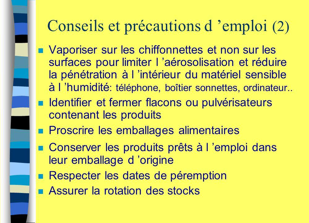 Conseils et précautions d 'emploi (2)