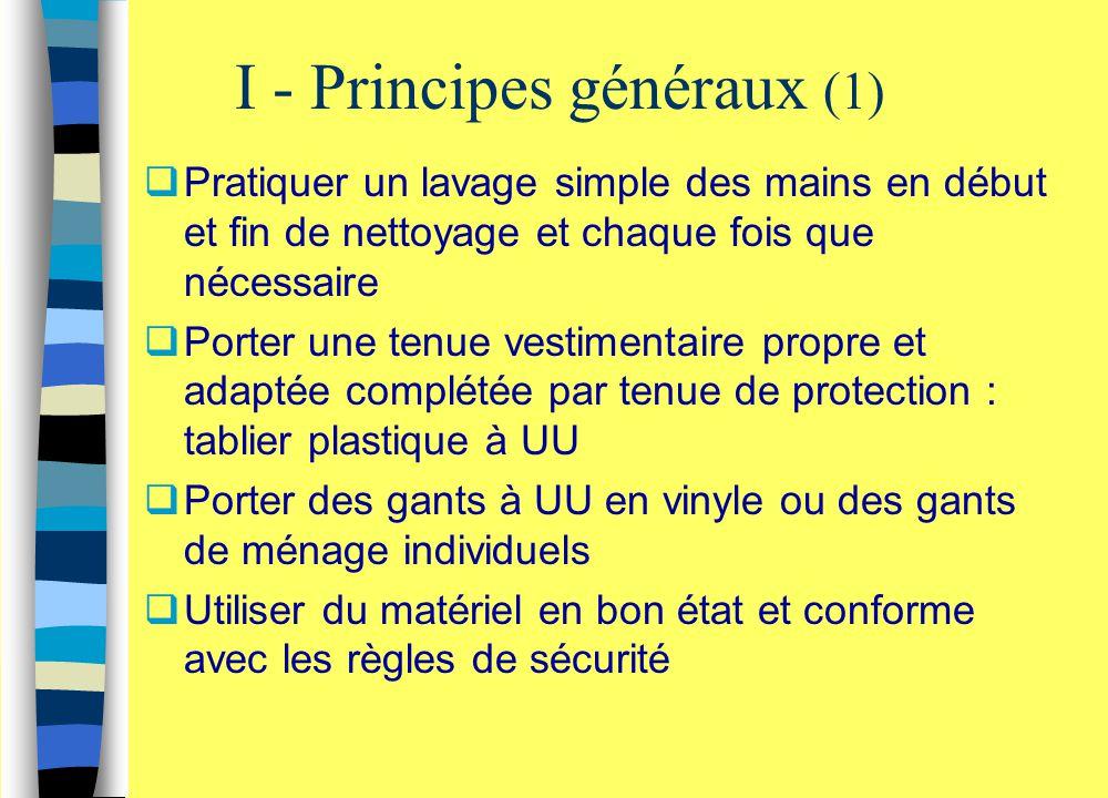 I - Principes généraux (1)