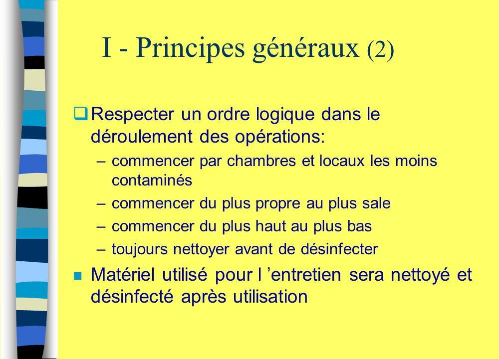 I - Principes généraux (2)