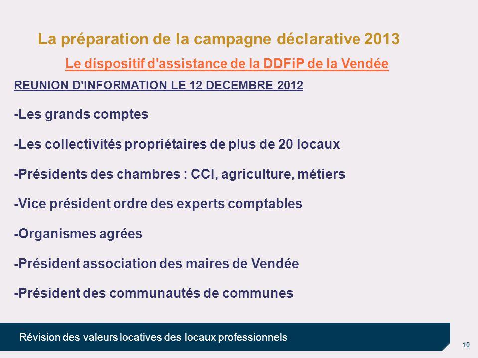 Le dispositif d assistance de la DDFiP de la Vendée