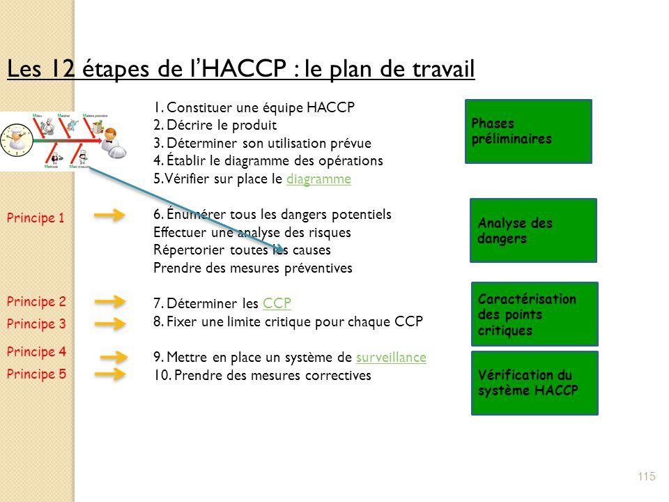 Les 12 étapes de l'HACCP : le plan de travail