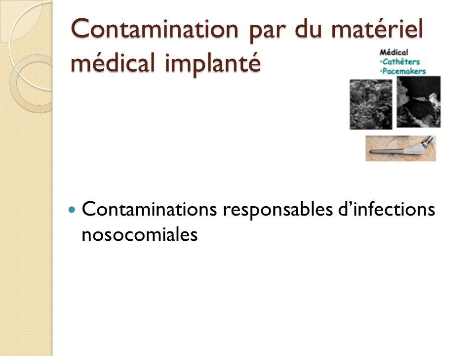 Contamination par du matériel médical implanté