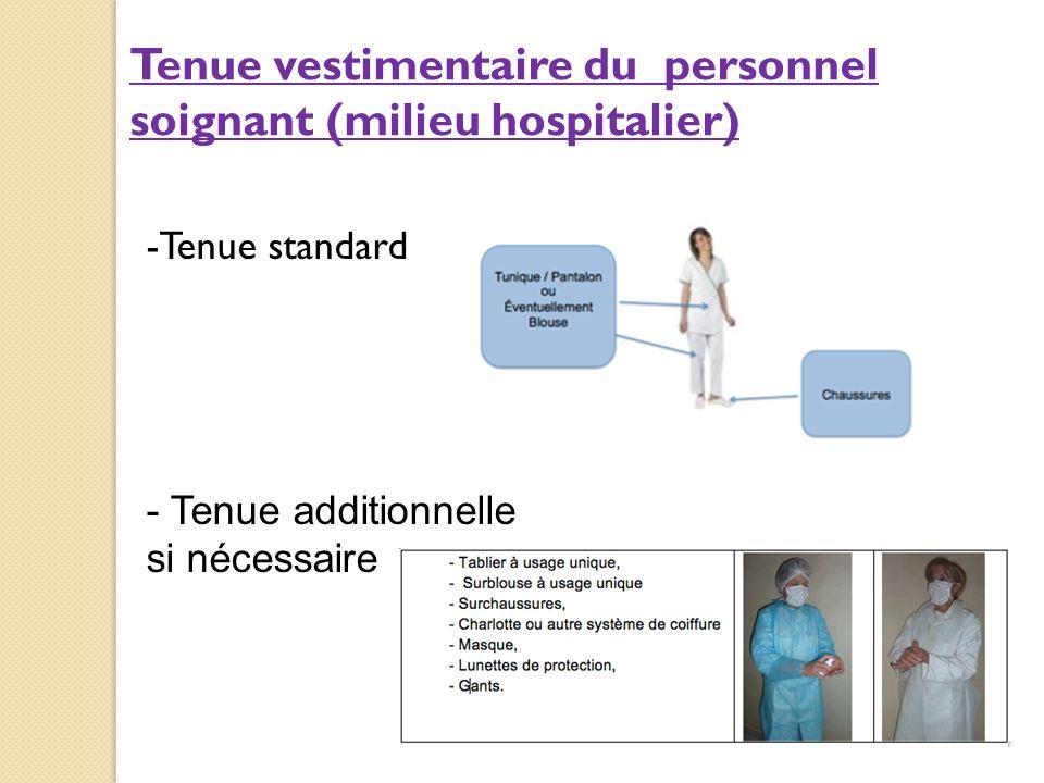 Tenue vestimentaire du personnel soignant (milieu hospitalier)