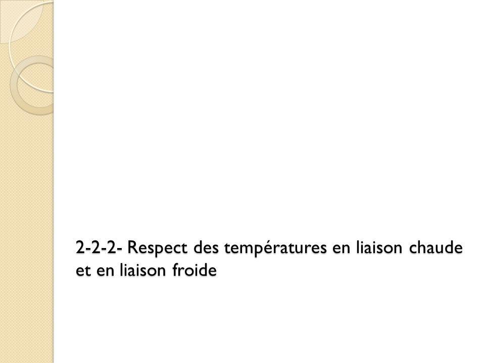 2-2-2- Respect des températures en liaison chaude et en liaison froide