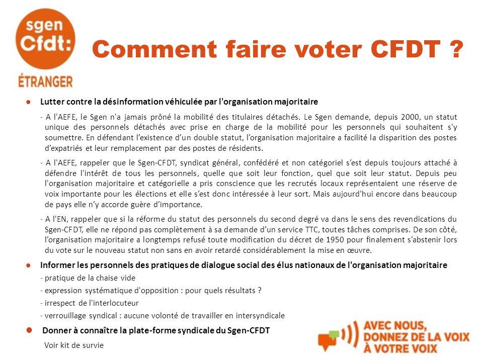 Comment faire voter CFDT