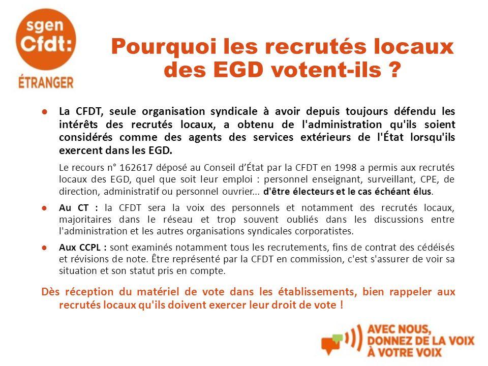 Pourquoi les recrutés locaux des EGD votent-ils