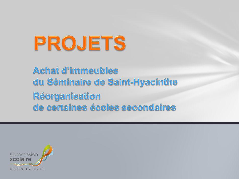 PROJETS Achat d'immeubles du Séminaire de Saint-Hyacinthe