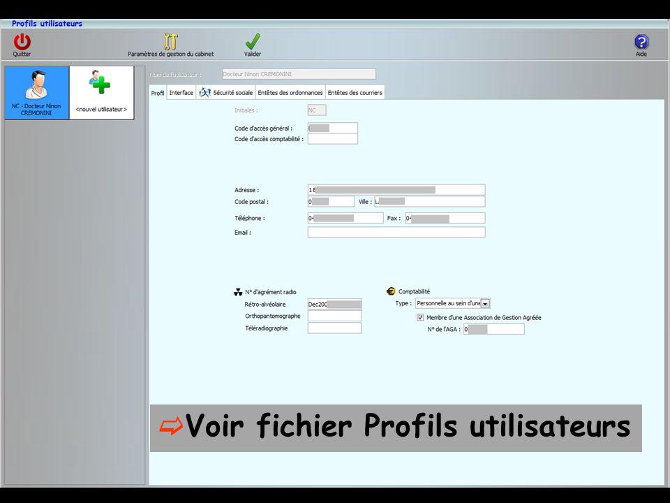 Voir fichier Profils utilisateurs