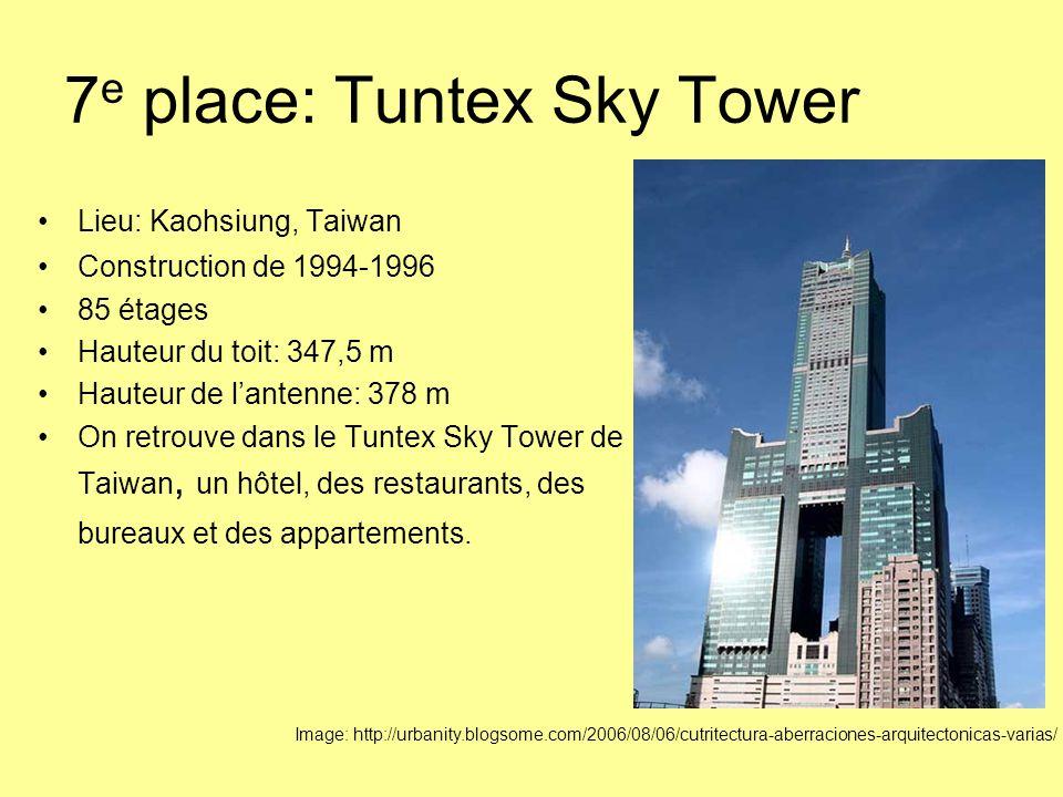 7e place: Tuntex Sky Tower