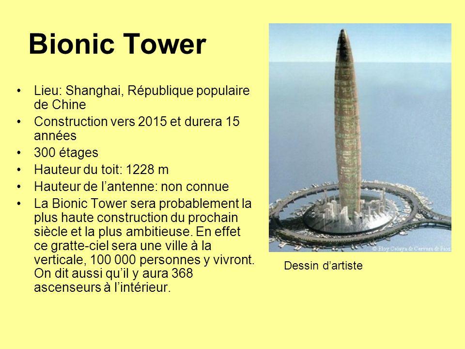 Bionic Tower Lieu: Shanghai, République populaire de Chine