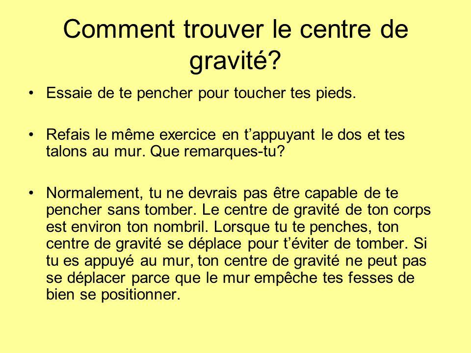 Comment trouver le centre de gravité