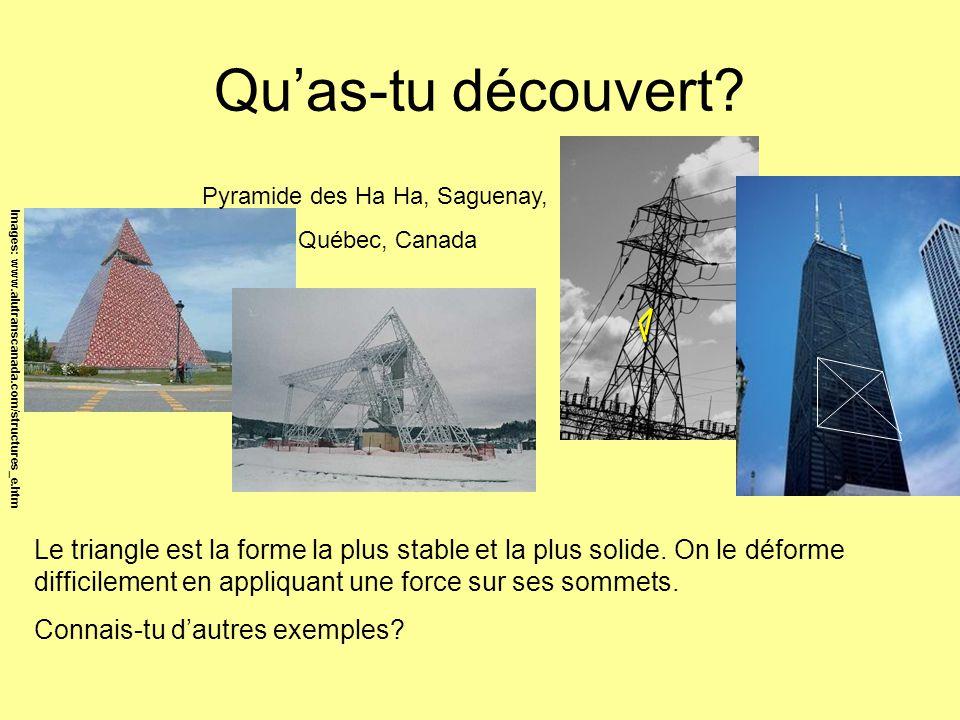 Qu'as-tu découvert Pyramide des Ha Ha, Saguenay, Québec, Canada. Images: www.alutranscanada.com/structures_e.htm.