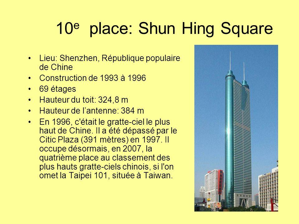 10e place: Shun Hing Square