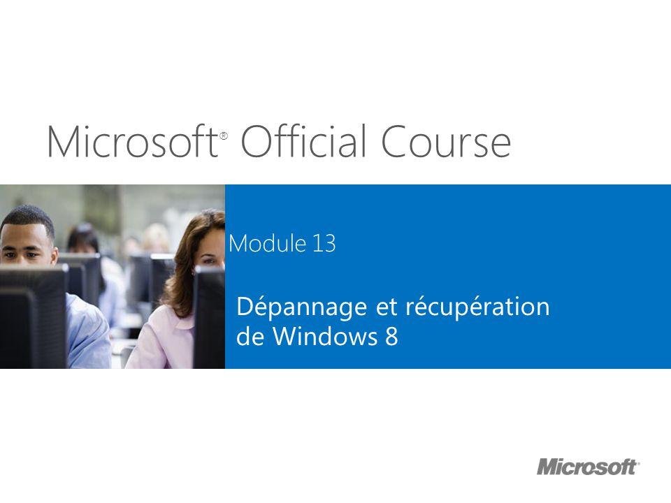Dépannage et récupération de Windows 8