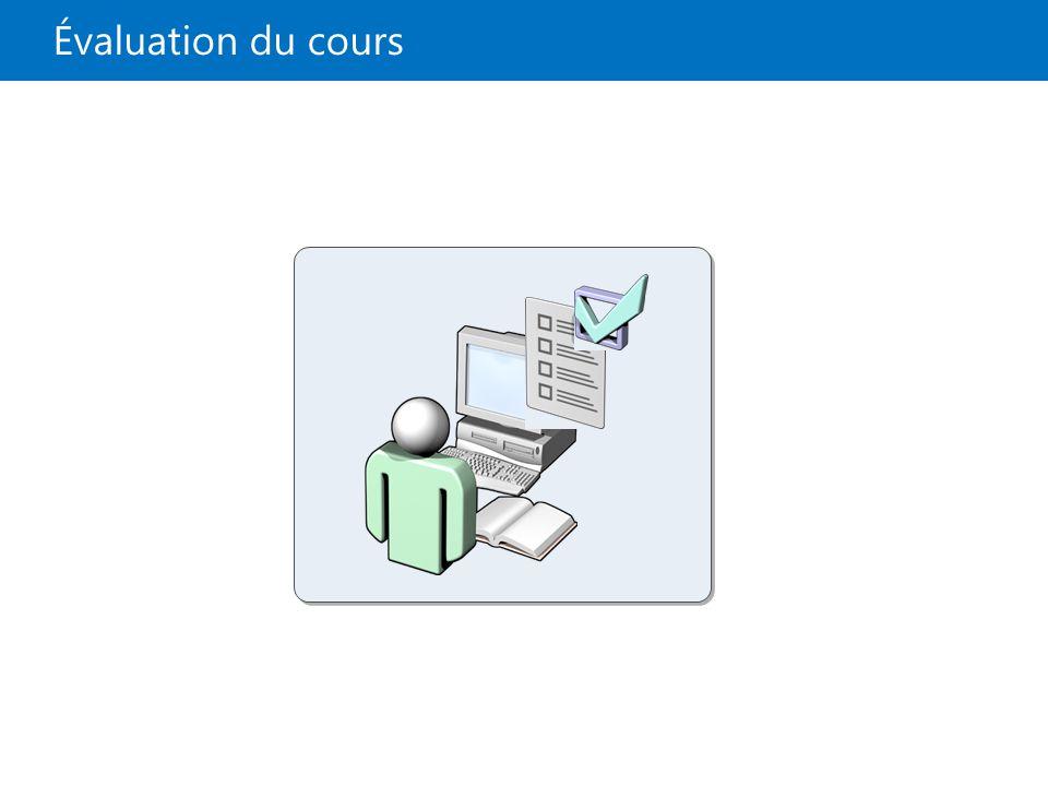 Évaluation du cours 22687B 13 : Dépannage et récupération de Windows 8