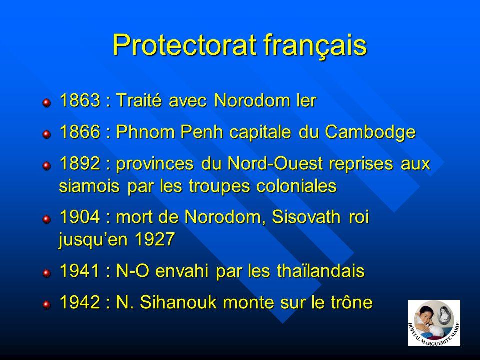 Protectorat français 1863 : Traité avec Norodom Ier