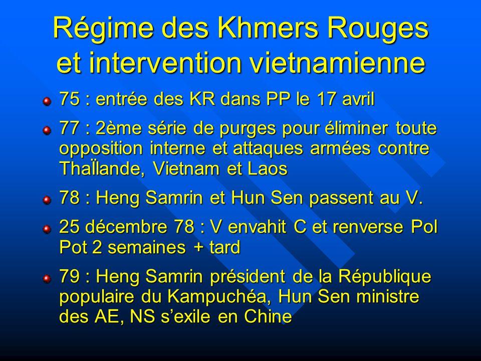 Régime des Khmers Rouges et intervention vietnamienne