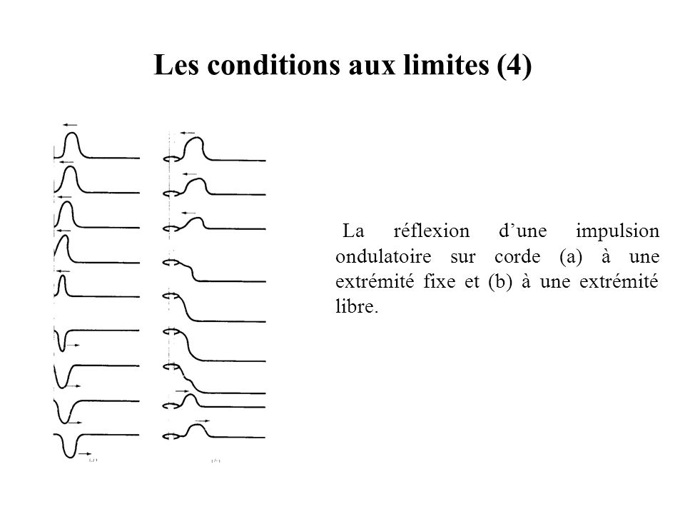 Les conditions aux limites (4)