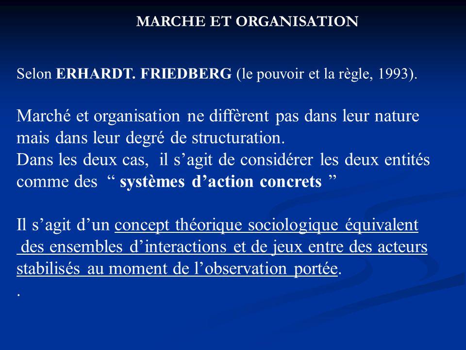 MARCHE ET ORGANISATION