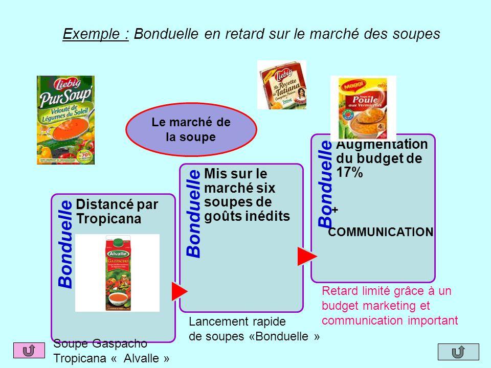 Exemple : Bonduelle en retard sur le marché des soupes
