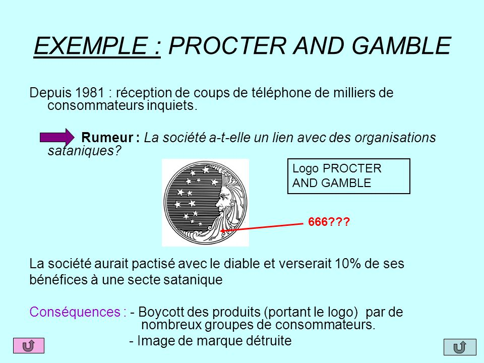 EXEMPLE : PROCTER AND GAMBLE