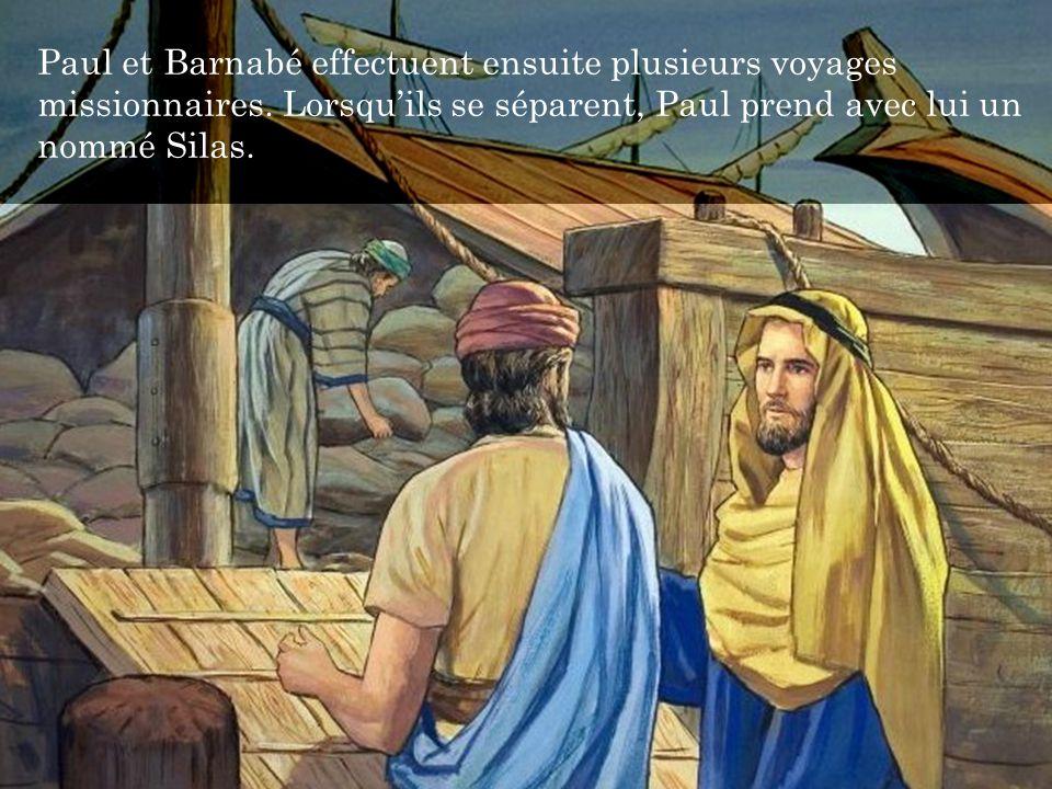 Paul et Barnabé effectuent ensuite plusieurs voyages missionnaires