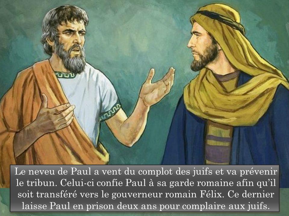 Le neveu de Paul a vent du complot des juifs et va prévenir le tribun