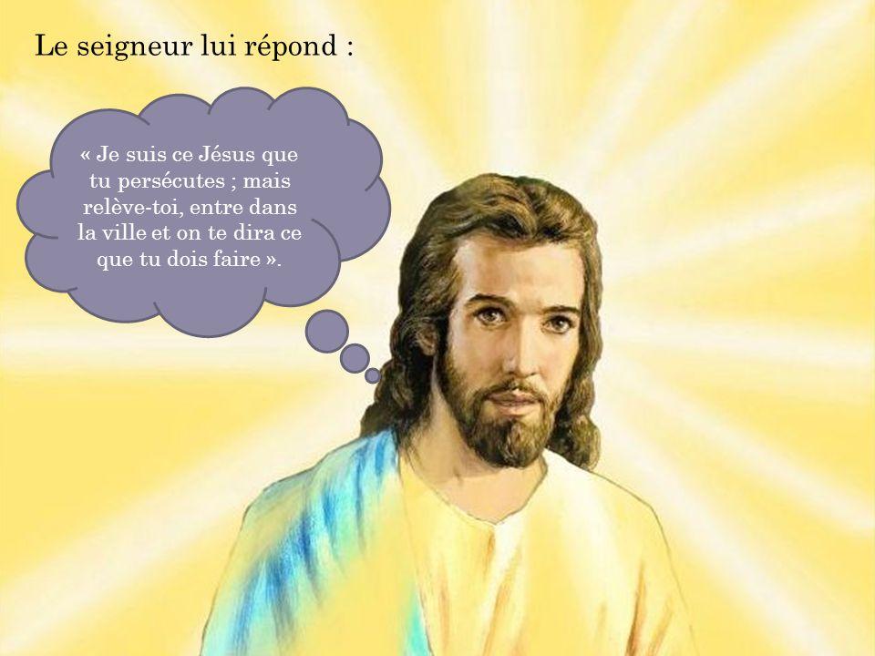 Le seigneur lui répond :