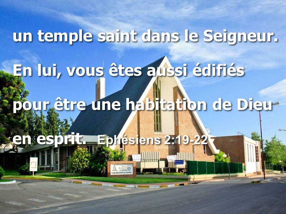 un temple saint dans le Seigneur.