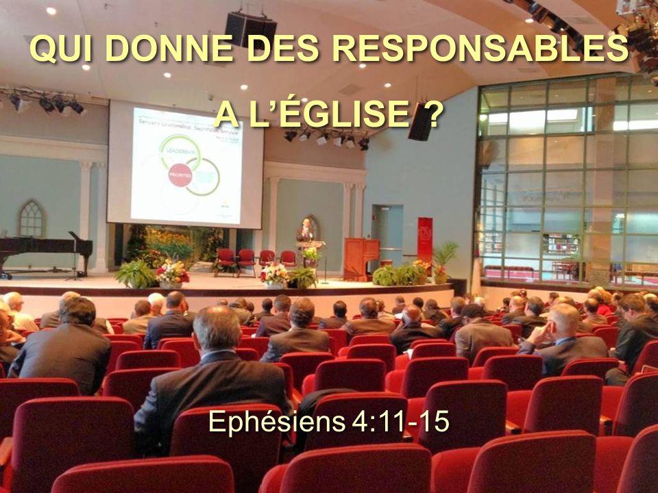 QUI DONNE DES RESPONSABLES