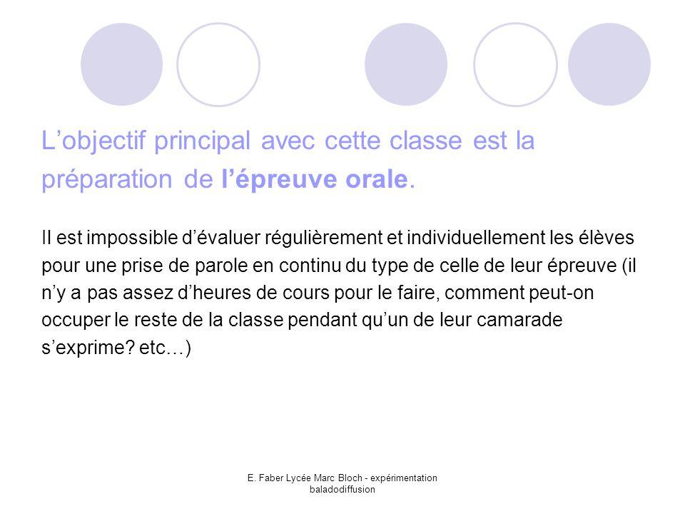 E. Faber Lycée Marc Bloch - expérimentation baladodiffusion