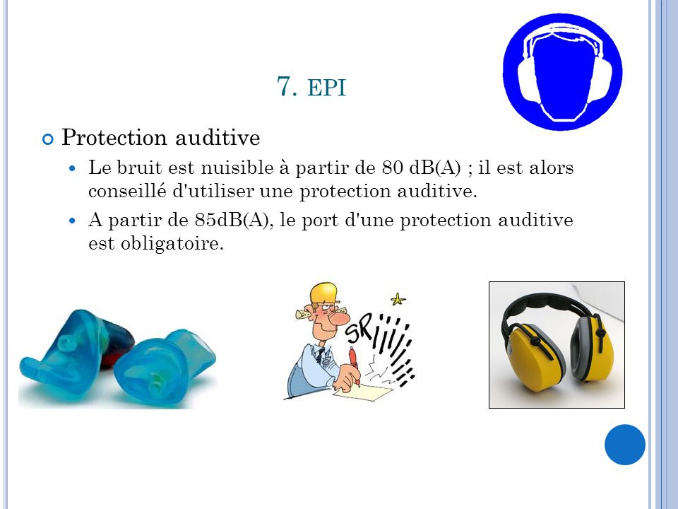 7. epi Protection auditive