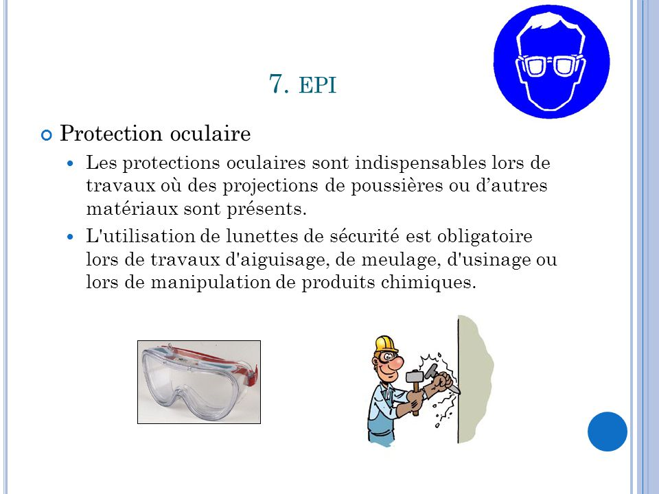 7. epi Protection oculaire