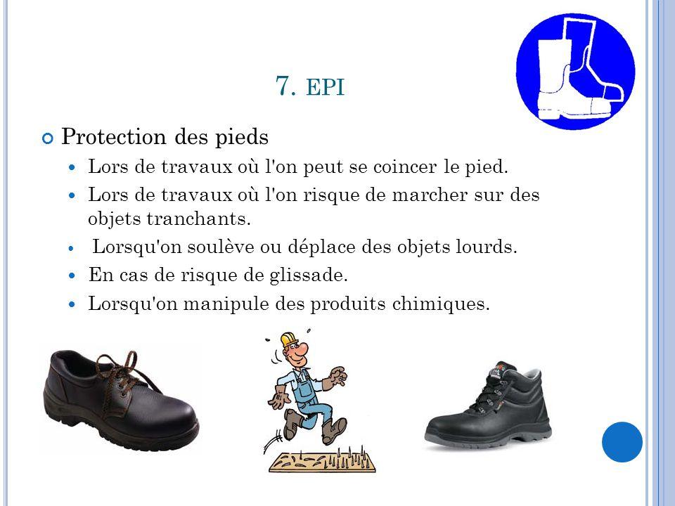 7. epi Protection des pieds